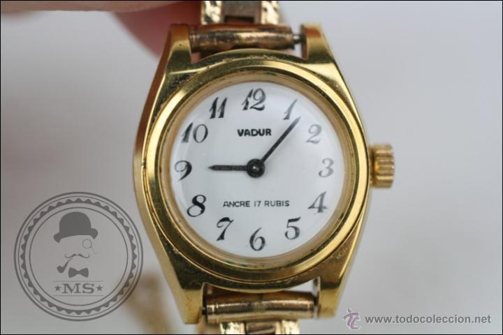 Relojes de pulsera: Reloj de Pulsera Femenino Vadur - Manual. Funciona - Dorado - Caja 20 Mm de Diámetro - Foto 3 - 45604260