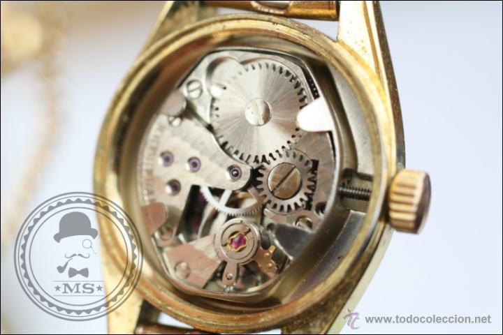 Relojes de pulsera: Reloj de Pulsera Femenino Vadur - Manual. Funciona - Dorado - Caja 20 Mm de Diámetro - Foto 7 - 45604260