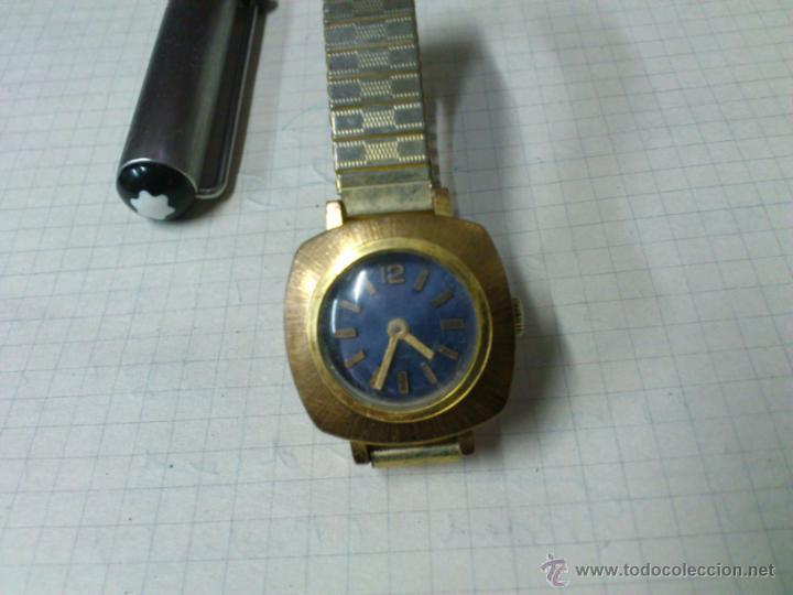 RELOJ DE CUERDA PARA SEÑORA 17 RUBIS SWISS MADE FUNCIONANDO (Relojes - Pulsera Carga Manual)