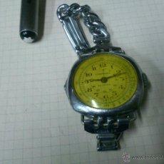 Relógios de pulso: AFJ. RELOJ DE CUERDA ANTIGUO CRONOGRAFO SVIZZERO MUY RARO. Lote 46353119