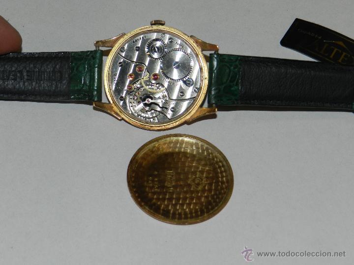 Relojes de pulsera: ANTIGUO RELOJ DE PULSERA CARGA MANUAL ORO 18 KL.- CYMA - ESTADO DE MARCHA , BUEN ESTADO 5X4,3 CM. - Foto 5 - 44204115