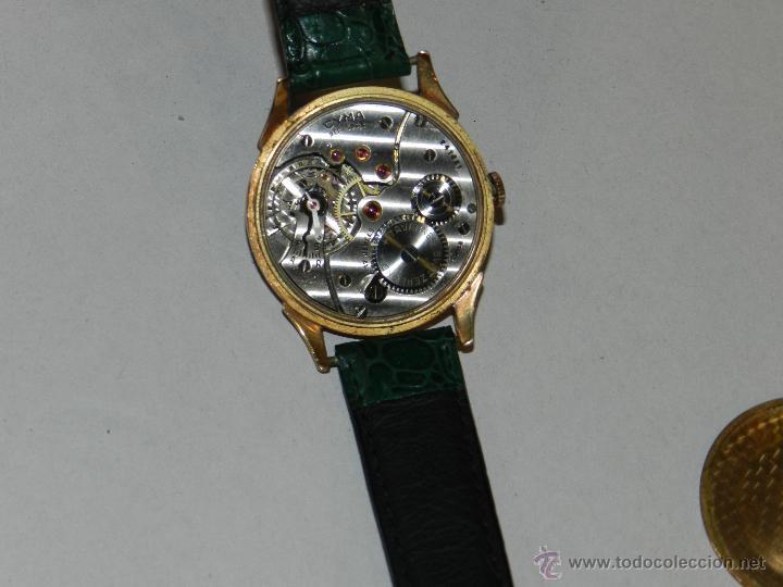 Relojes de pulsera: ANTIGUO RELOJ DE PULSERA CARGA MANUAL ORO 18 KL.- CYMA - ESTADO DE MARCHA , BUEN ESTADO 5X4,3 CM. - Foto 7 - 44204115