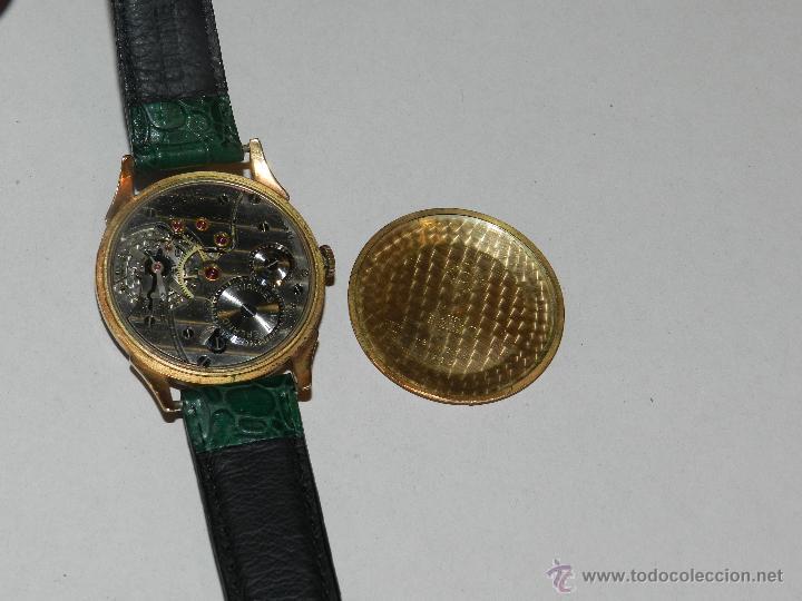 Relojes de pulsera: ANTIGUO RELOJ DE PULSERA CARGA MANUAL ORO 18 KL.- CYMA - ESTADO DE MARCHA , BUEN ESTADO 5X4,3 CM. - Foto 8 - 44204115