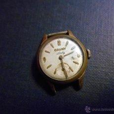 Relojes de pulsera: ANTIGUO RELOJ DE SEÑORA MARCA - CAUNY LADY -CHAPADO ORO-FUNCIONANDO-. Lote 105141178