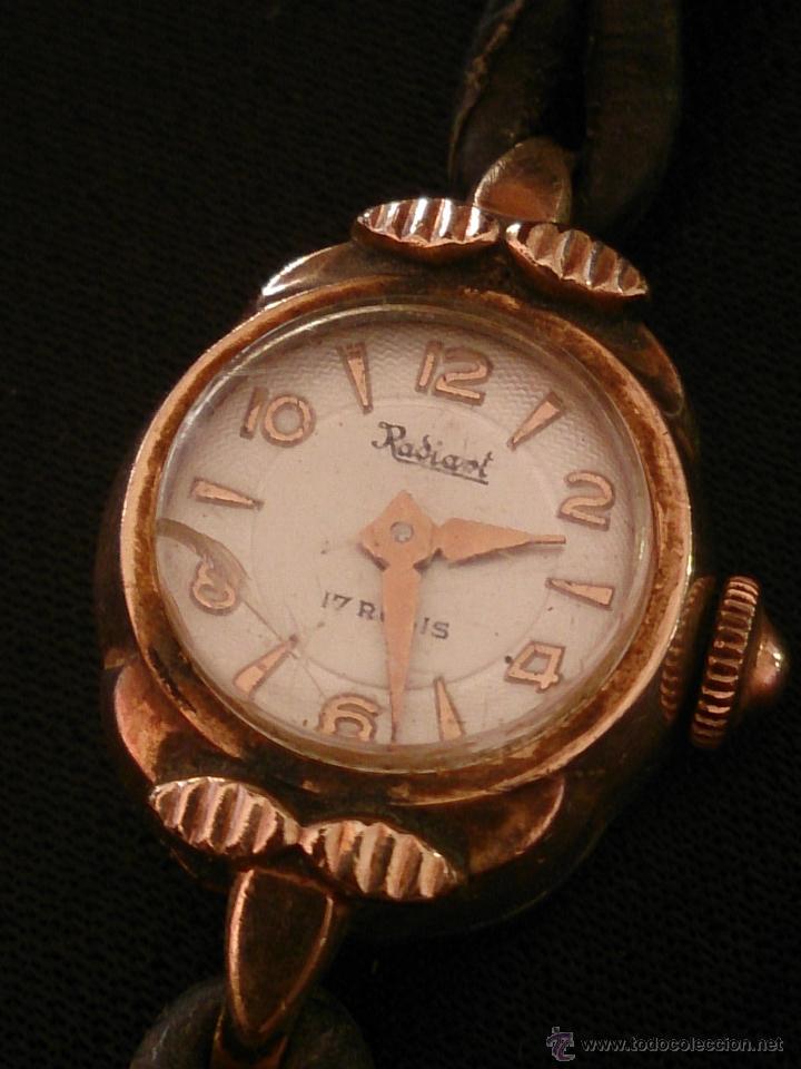 RELOJ DE PULSERA RADIANT DE CARGA MANUAL. CHAPADO ORO. (Relojes - Pulsera Carga Manual)