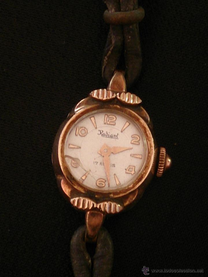Relojes de pulsera: Reloj de pulsera Radiant de carga manual. Chapado oro. - Foto 2 - 47556071