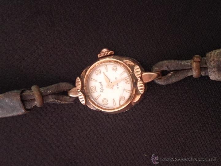 Relojes de pulsera: Reloj de pulsera Radiant de carga manual. Chapado oro. - Foto 5 - 47556071