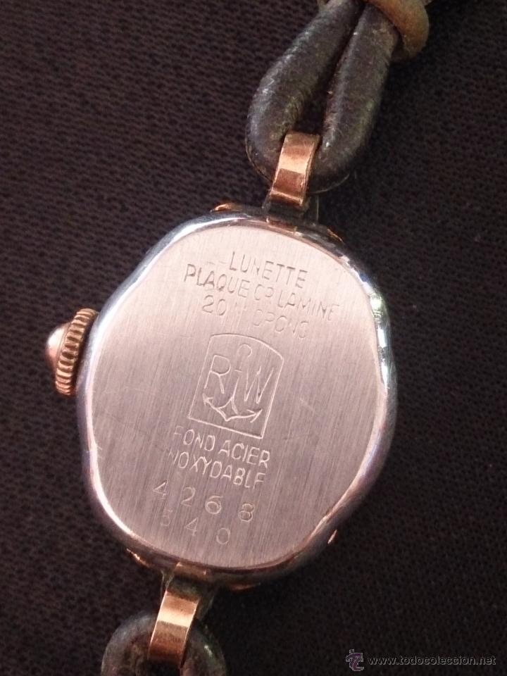 Relojes de pulsera: Reloj de pulsera Radiant de carga manual. Chapado oro. - Foto 7 - 47556071