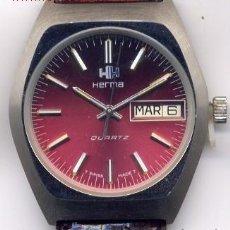 Relojes de pulsera: HERMA RELOJ DE CABALLERO (CUARZO) (NOS = NEW OLD STOCK). Lote 85286486