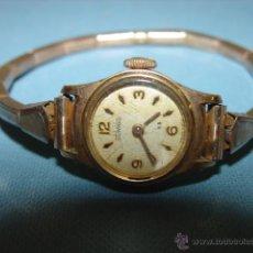 Relojes de pulsera: ANTIGUO RELOJ DE SEÑORA MARCA DUWARD, DIMINUTA ESFERA DE 15MM. CHAPADO EN ORO.. Lote 48159394