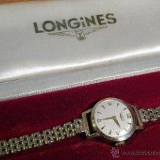 Relojes de pulsera: RELOJ DE PULSERA ORO MACIZO 9K 9CT LONGINES SEÑORA 17 JEWELS FUNCIONANDO CADENA ORO. Lote 48555850