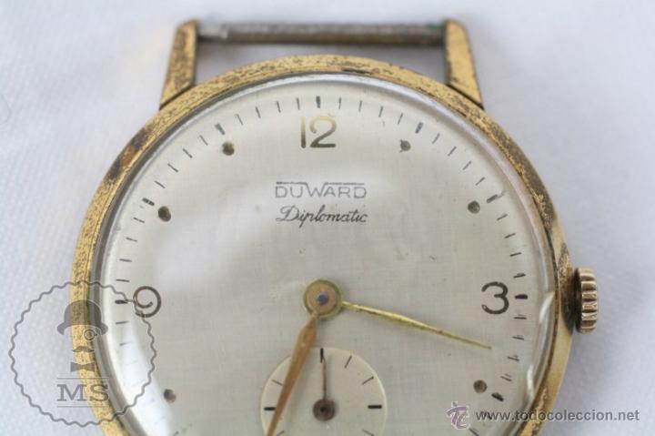 Relojes de pulsera: Caja de Reloj de Pulsera Duward Diplomatic - Movimiento Manual - Funcionando - Medidas 34 Mm Diám - Foto 2 - 48628482