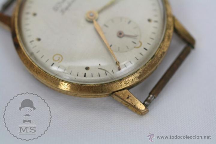 Relojes de pulsera: Caja de Reloj de Pulsera Duward Diplomatic - Movimiento Manual - Funcionando - Medidas 34 Mm Diám - Foto 6 - 48628482
