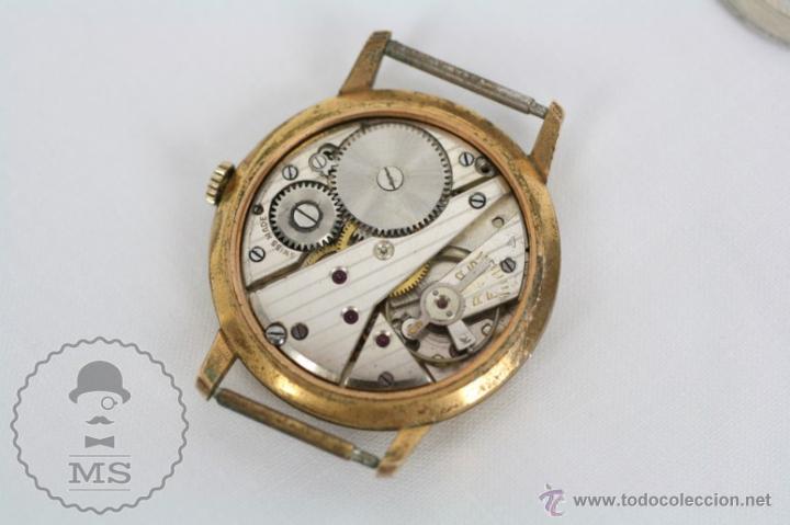 Relojes de pulsera: Caja de Reloj de Pulsera Duward Diplomatic - Movimiento Manual - Funcionando - Medidas 34 Mm Diám - Foto 7 - 48628482