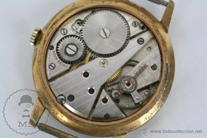 Relojes de pulsera: Caja de Reloj de Pulsera Duward Diplomatic - Movimiento Manual - Funcionando - Medidas 34 Mm Diám - Foto 9 - 48628482