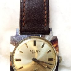 Relojes de pulsera: RELOJ PULSERA CARGA MANUAL CAUNY PRIMA, SWISS MASTER, NO FUNCIONA. VER DESCRIPCION. Lote 48975833