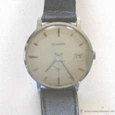 Relojes de pulsera: RELOJ PULSERA DUWARD CALENDAR, FUNCIONA. MED. 3,4 CM SIN CONTAR CORONA. Lote 49000270