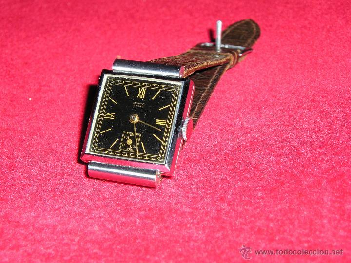 RELOJ SUIZO CUADRADO DE ACERO 1930, COMO NUEVO (Relojes - Pulsera Carga Manual)