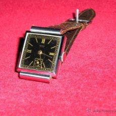 Relojes de pulsera: RELOJ SUIZO CUADRADO DE ACERO 1930, COMO NUEVO. Lote 49043556