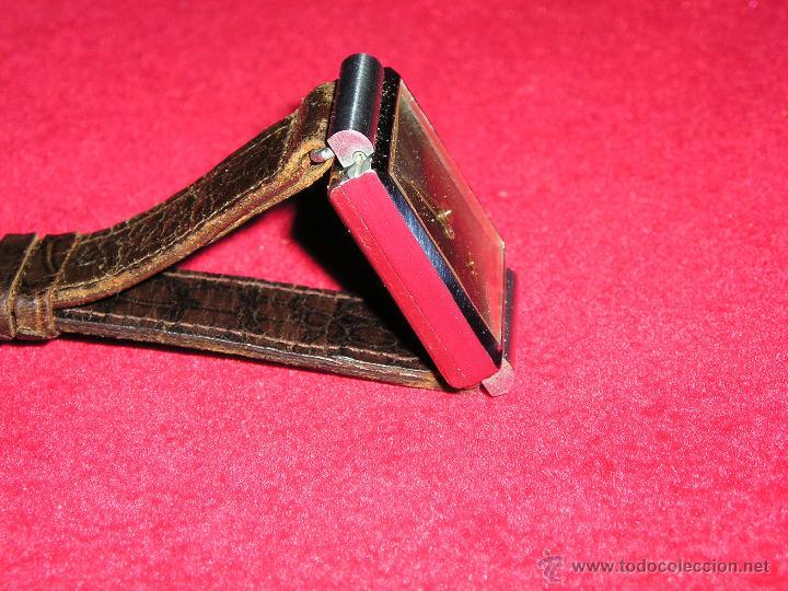Relojes de pulsera: RELOJ SUIZO CUADRADO DE ACERO 1930, COMO NUEVO - Foto 3 - 49043556