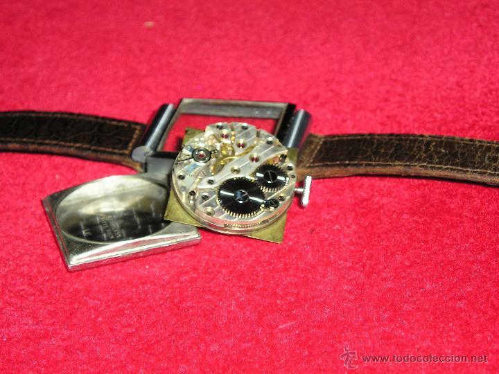 Relojes de pulsera: RELOJ SUIZO CUADRADO DE ACERO 1930, COMO NUEVO - Foto 5 - 49043556