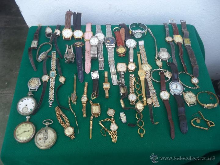 55 RELOJES DE PULSERA CABALLERO Y SEÑORAS (Relojes - Pulsera Carga Manual)