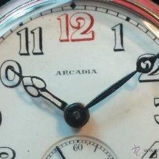Relojes de pulsera: ANTIGUO RELOJ DE PULSERA EN CAJA DE PLATA DE LA PRESTIGIOSA CASA SWISS, ARCADIA, DE CABALLERO.... Lote 49420948