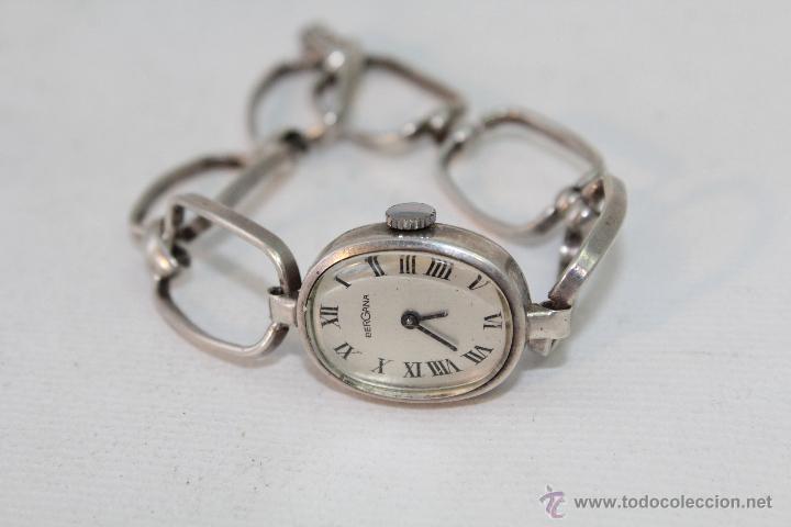 2569a15d22ee Reloj mujer a cuerda de bergana en plata de ley - Sold at Auction ...