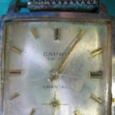 Relojes de pulsera: RELOJ CARGA MANUAL CAUNY. FUNCIONA. Lote 49701887