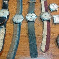 Relojes de pulsera: LOTE DE 8 RELOJ O RELOJES DE CABALLERO, DE CUERDA, PARA REPARAR O PARA PIEZAS, DE LOS AÑOS 30 A 60. Lote 57567415