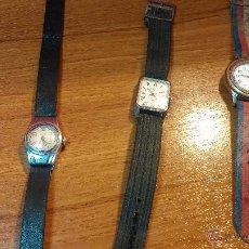 Relojes de pulsera: LOTE DE 4 RELOJ O RELOJES ANTIGUOS A CUERDA, 1 DE CABABALLERO, 2 UNISEX Y 1 DE DAMAS.. MUY CURIOSOS. Lote 49877428