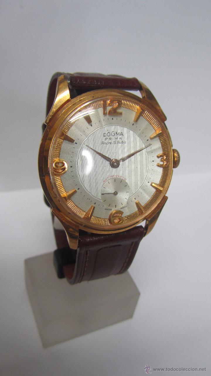 DOGMA CABALLERO 40MM, AÑOS 60. (Relojes - Pulsera Carga Manual)