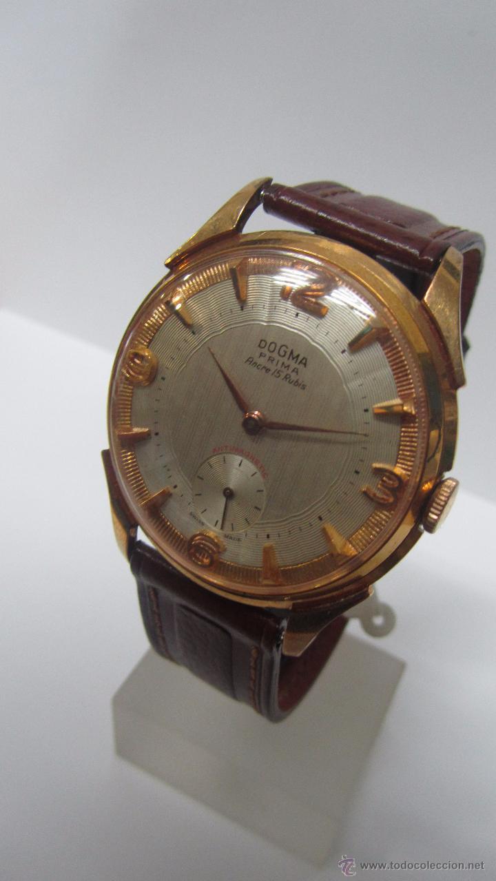 Relojes de pulsera: Dogma Caballero 40mm, años 60. - Foto 2 - 49890165