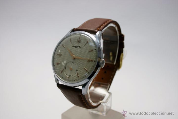 Relojes de pulsera: Reloj caballero suizo Kardex años 40/50. - Foto 2 - 49935667