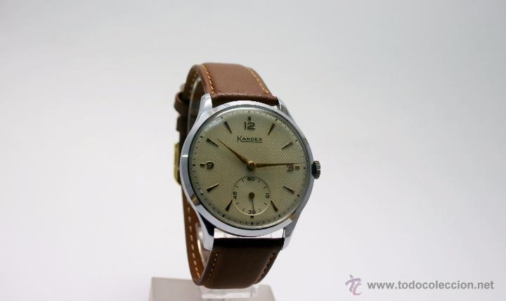 Relojes de pulsera: Reloj caballero suizo Kardex años 40/50. - Foto 3 - 49935667