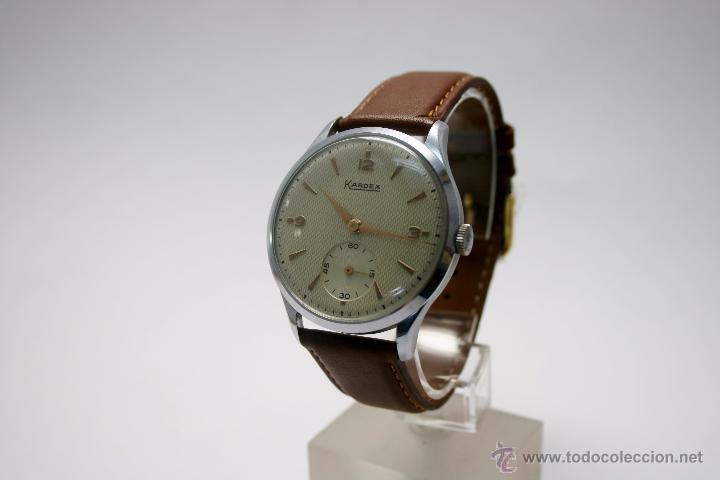 Relojes de pulsera: Reloj caballero suizo Kardex años 40/50. - Foto 4 - 49935667