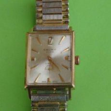 Relojes de pulsera: CAUNY GLOB PRIMA DE PULSERA 17 RUBIES CAJA CHAPADA EN ORO FUNCIONA. Lote 50516926