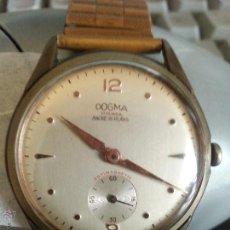 Relojes de pulsera: RELOJ DOGMA PRIMA ANCRES 15 RUBIS, MAQUINARIA CARGA MANUAL 17 RUBIS ANTIMANETIC - PULSERA EXOFLEX. Lote 107446942