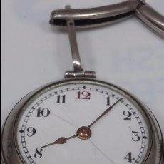 Relojes de pulsera: RELOJ DE PULSERA PLATA . CUERDA DIARIA. PULSERA ESTROPEADA. Lote 129690226
