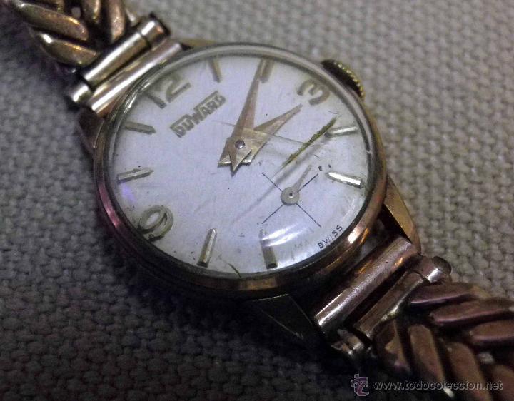 ANTIGUO RELOJ DE PULSERA, DAMA, MARCA DUWARD, A REPARAR, CHAPADO EN ORO (Relojes - Pulsera Carga Manual)