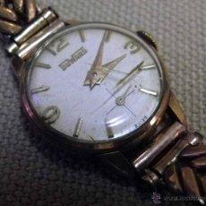 Relojes de pulsera: ANTIGUO RELOJ DE PULSERA, DAMA, MARCA DUWARD, A REPARAR, CHAPADO EN ORO. Lote 51115417