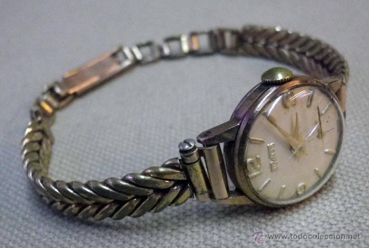 Relojes de pulsera: ANTIGUO RELOJ DE PULSERA, DAMA, MARCA DUWARD, A REPARAR, CHAPADO EN ORO - Foto 2 - 51115417