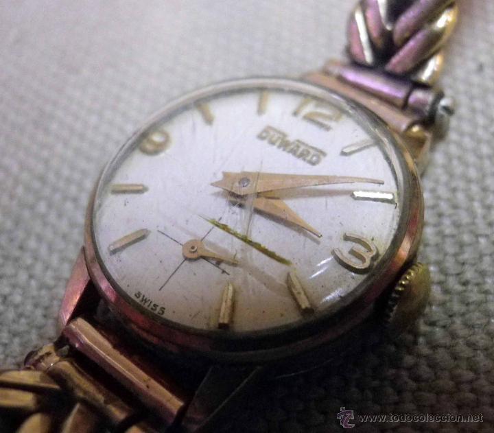 Relojes de pulsera: ANTIGUO RELOJ DE PULSERA, DAMA, MARCA DUWARD, A REPARAR, CHAPADO EN ORO - Foto 4 - 51115417