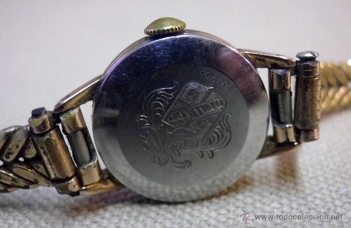 Relojes de pulsera: ANTIGUO RELOJ DE PULSERA, DAMA, MARCA DUWARD, A REPARAR, CHAPADO EN ORO - Foto 5 - 51115417