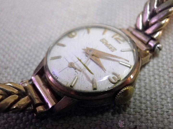 Relojes de pulsera: ANTIGUO RELOJ DE PULSERA, DAMA, MARCA DUWARD, A REPARAR, CHAPADO EN ORO - Foto 6 - 51115417
