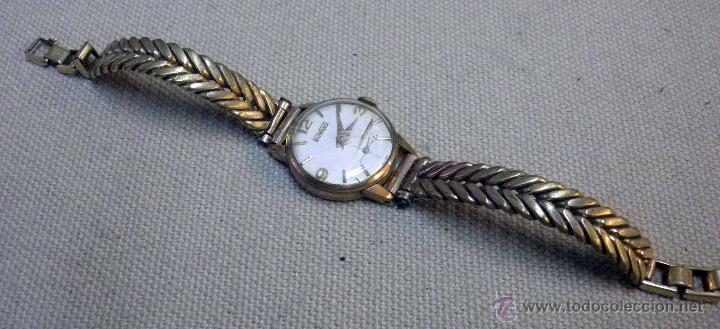 Relojes de pulsera: ANTIGUO RELOJ DE PULSERA, DAMA, MARCA DUWARD, A REPARAR, CHAPADO EN ORO - Foto 8 - 51115417