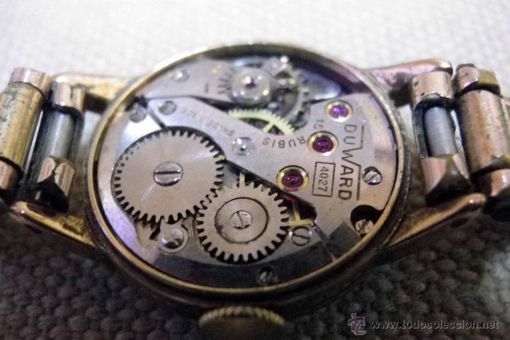 Relojes de pulsera: ANTIGUO RELOJ DE PULSERA, DAMA, MARCA DUWARD, A REPARAR, CHAPADO EN ORO - Foto 10 - 51115417