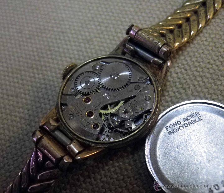 Relojes de pulsera: ANTIGUO RELOJ DE PULSERA, DAMA, MARCA DUWARD, A REPARAR, CHAPADO EN ORO - Foto 11 - 51115417