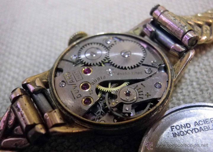 Relojes de pulsera: ANTIGUO RELOJ DE PULSERA, DAMA, MARCA DUWARD, A REPARAR, CHAPADO EN ORO - Foto 12 - 51115417