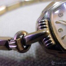 Relojes de pulsera: ANTIGUO RELOJ DE PULSERA, DAMA, MARCA HELBROS, A REPARAR, CHAPADO EN ORO. Lote 51115443